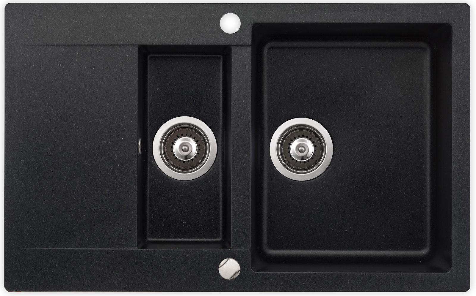 Billig sort kunstgranitvask til køkken
